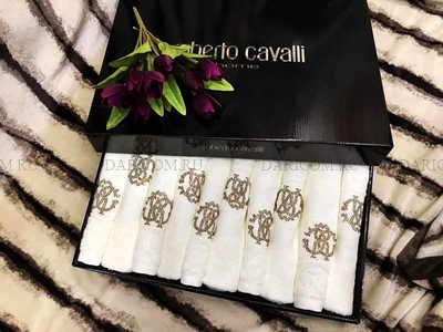 Набор полотенец Roberto Cavalli - ручные (молочный ) -10 штук