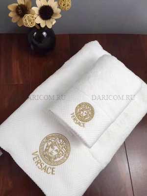Набор полотенец  Версаче ( Классик - белое )