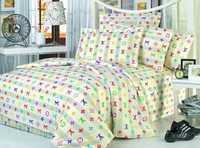 Белье сатин- бренд Луивитон (цветное) семейное