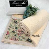 Покрывало  велюровое  MAIASHI  двустороннее   молочное