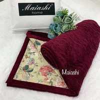 Покрывало  велюровое MAIASHI двустороннее  - вишневое