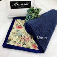 Покрывало  велюровое  MAIASHI i  двустороннее  синее