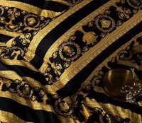 Белье Versage. сатин де люкс черный с золотом