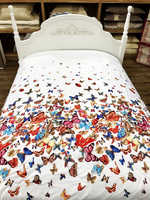 "Одеяло шелковое  KENZO тонкое ""Бабочки"""
