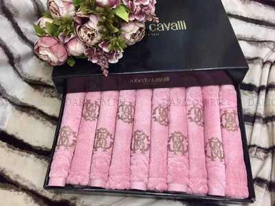 Набор полотенец - салфеток Roberto Cavalli - Элегия ( розовый)