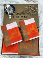 Набор полотенец HERMES - оранжевое