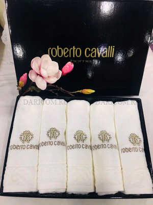 Набор полотенец Roberto Cavalli - Элит (с вышивкой) - молочный