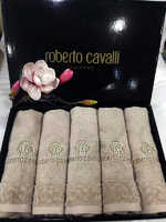 """Набор полотенец Roberto Cavalli - """"Элит """" с вышивкой ( бежевое)"""
