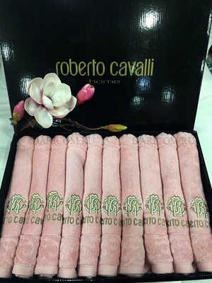 Набор полотенец - салфеток Roberto Cavalli - Элегия ( розовый) с вышивкой