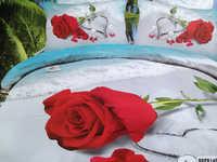 Белье в макросатине 3D (Роза) Семейнное