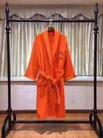 Халат фирмы Hermes  - Хлопок 100% ( Оранжевый)
