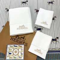 Набор полотенец HERMES с вышивкой - белое