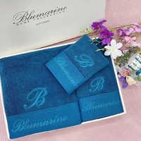 Набор полотенец BLUMARINE с вышивкой - бирюзовый