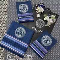 Набор полотенец Versace ( синее )