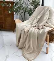 Одеяло  тонкие из натурального шелка с покрытием из TENCEL - Бежевое