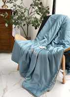 Одеяло  тонкие из натурального шелка с покрытием из TENCEL ( бирюзовое )