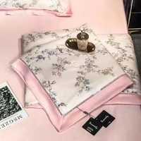 Набор - Белье KENZO  с шелковым  одеялом из ткани Тенсель - Розовое
