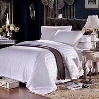 Белье отельное ткань - сатин де люкс - Белое