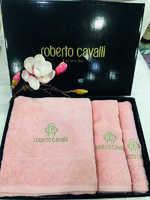 Набор полотенец Roberto Cavalli c  вышивкой -  Элит - розовый